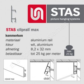 STAS cliprail max combikap