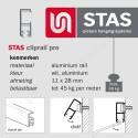 STAS cliprail pro & multirail hoekverbinder