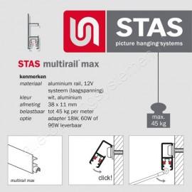 STAS multirail max hoekverbinder
