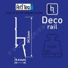 Artiteq deco ornament rail - 200cm wit primer