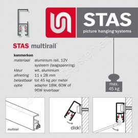 STAS multirail conductor 12V hoek