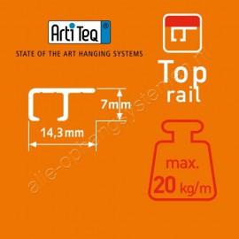 Artiteq top rail 200cm