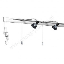 Dimbare LED Artiteq Combi Rail Pro Light Set in wit van 200cm - 50kg