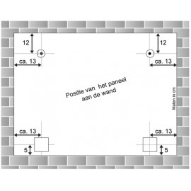 AOS DiBond Glas Forex Spiegel Hanger nu met 2 gratis afstandhouders