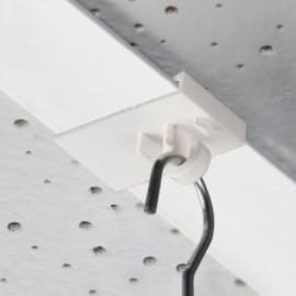 GeckoTeq Plafond clip met haak wit plastic - 20x30mm - 5kg