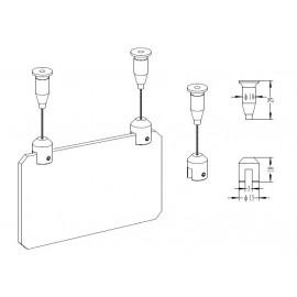 GeckoTeq Plafondnok Kabelsysteem - 5 - 15 & 20kg