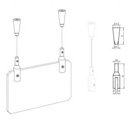 AOS Plafondnok incl. 1,5m perlondraad, schroef en plug - 10kg