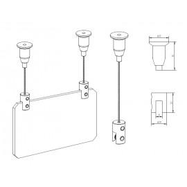 GeckoTeq Plafondnok Kabelsysteem - 5 & 20kg