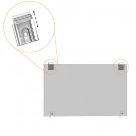 GeckoTeq Transparant DiBond Glas Forex Spiegel Muur Klem set - incl. schroeven en pluggen