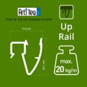 Artiteq Up Rail in wit primer