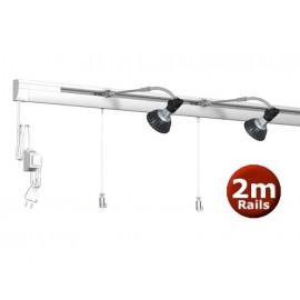 Artiteq combi rail pro light wit 200cm incl ophang materiaal