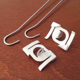AOS plafond clip klem metaal breedte 25mm wit