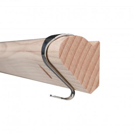 GeckoTeq houten kantlat Wand Rail