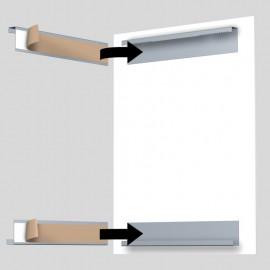 DiBond Rail set zelfklevend inclusief 2 muurhaken en 1 reinigingsdoekje