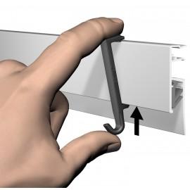 Artiteq Clip Hanger voor Info Rails - 1kg