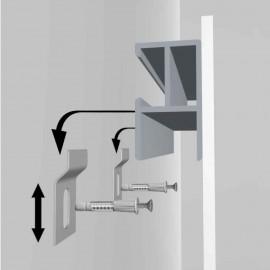 GeckoTeq DiBond Rail set met 2 zelfklevende Rails, inclusief 2 muurhaken en 1 reinigingsdoekje