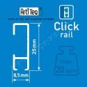 Artiteq  click rail 200cm