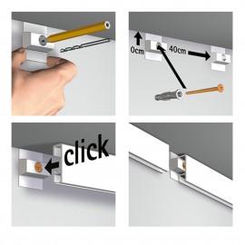 Click Rail Wit Overschilderbaar Budget Pakket - 30 meter