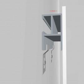 GeckoTeq DiBond Rail set met 2 zelfklevende Rails, inclusief 2 muurhaken met schroeven en pluggen, plus 1 reinigingsdoekje