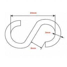 GeckoTeq S-Haak gegalvaniseerd staal - 3mm