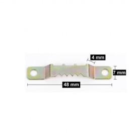 Zaagtandhanger 48mm met 2 schroefjes