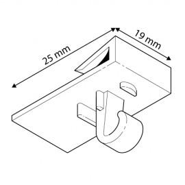 GeckoTeq 2kg Plafond schuif clip haak wit plastic - per stuk
