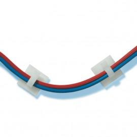 GeckoTeq Zelfklevende kabelhaken – Nylon wit