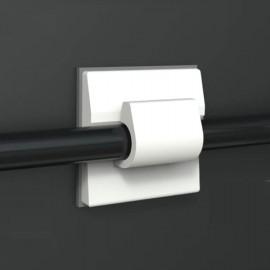 GeckoTeq Zelfklevende kabelhaak Mini – Nylon wit