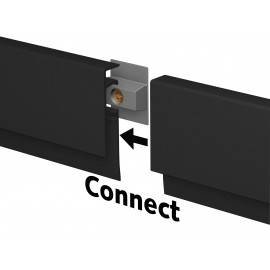 Artiteq InfoRail zwart (incl. eindkapjes en bevestigingsmaterialen)