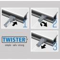 Artiteq 2mm Twister Stang in 2 kleuren - 200cm