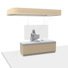 GeckoTeq - Anti-Corona Covid-19 Spat Scherm ophang set 1