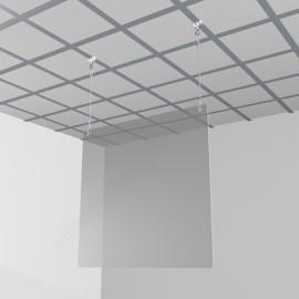 GeckoTeq - Anti-Corona Covid-19 Spat Scherm ophang set 2