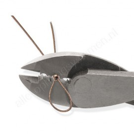 Staaldraad wit of zwart omkleed 1,5mm - niet knoopbaar - per 10 meter