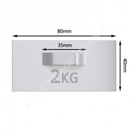 GeckoTeq Zelfklevende DiBond Glas Forex Spiegel Hanger incl. 2 Bumpers - per 1