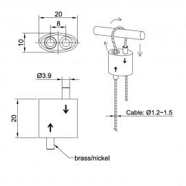 GeckoTeq Herbruikbare Lus Hanger voor 1,5mm draad