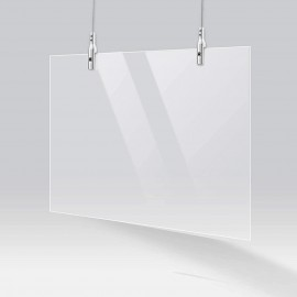 Anti-Corona Covid Spat Scherm ophang set 5 Hard plafond