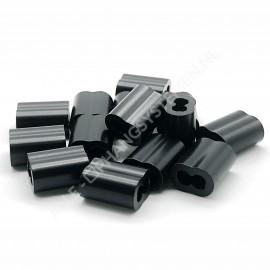 GeckoTeq Knelbus Draadklem 1,5mm in zwart en alu