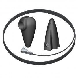 Artiteq Plafondnok Kabelsysteem - 1 Nok en 1 Klem inc. 1 zwarte draad - 10kg