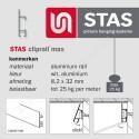 STAS cliprail max wit